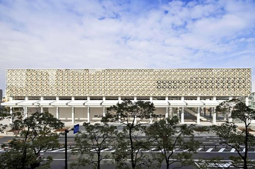 Shigeru Ban architects - Oita prefectural art museum, Japan