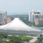 Singapore Indoor Stadium, Kenzo Tange, СИНГАПУР
